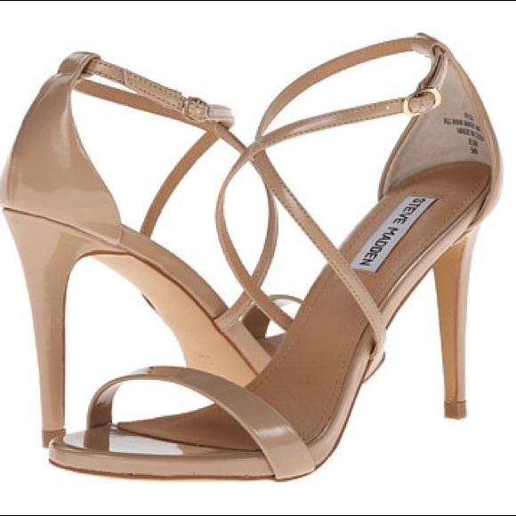 20bf48d65ec Steve Madden Nude Strappy Heels Size 9. M 5a6cb42ba6e3eaa5d0eef283